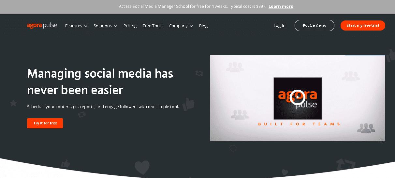 Social Media Scheduler Image - AgoraPulse