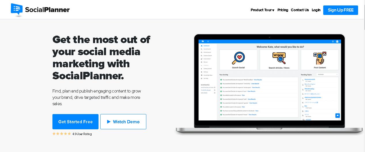 Content Curation Tool- SocialPlanner