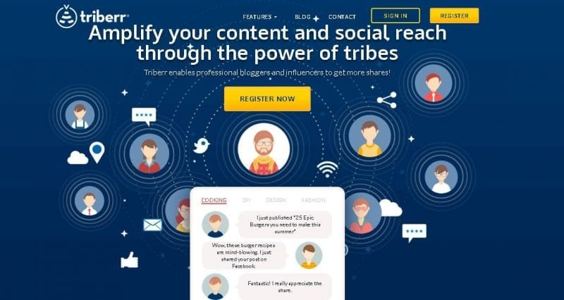 Social Content Curation - Triberr