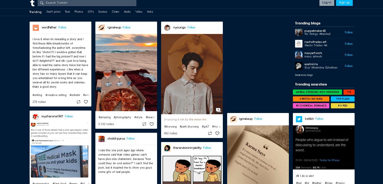 Social Media Channels - Tumblr