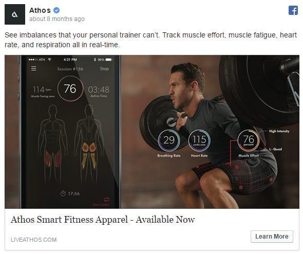 Facebook Ad Examples - Athos