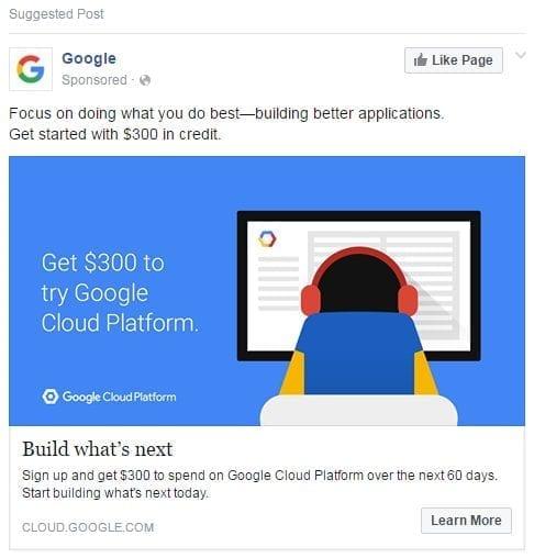 Facebook Ad Examples - Google