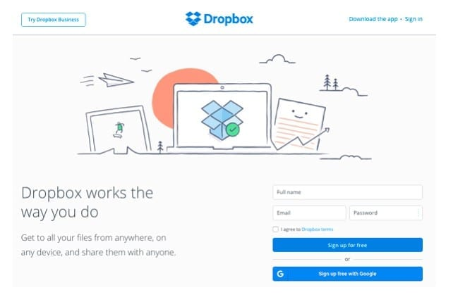 Dropbox has a simple but effective approach that works well