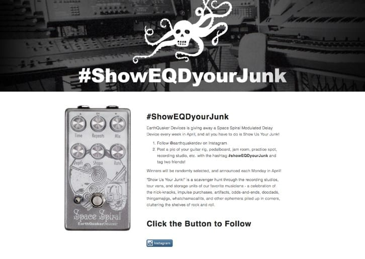 EarthQuaker Devices had a really good Instagram givewaway.