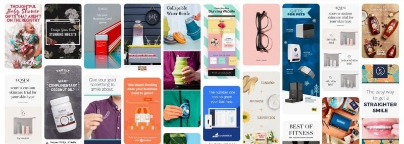 These ads show just how creative Pinterest Marketing can be.