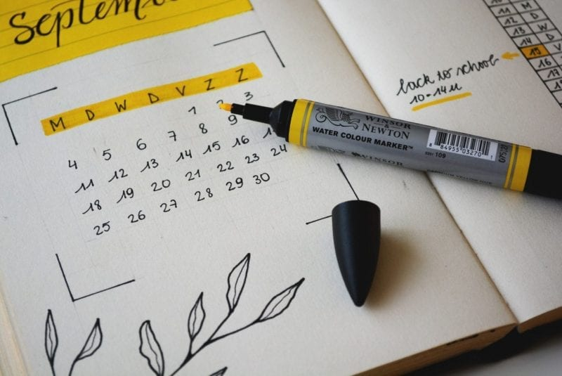 Having a schedule is a great way to manage your marketing plan.