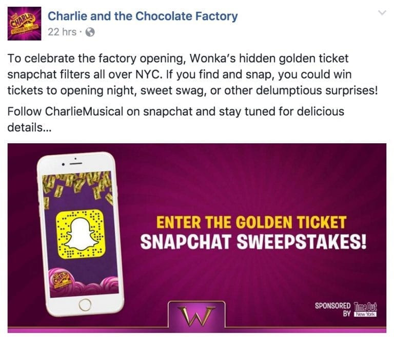 Charlie and the Chocolate Factory had a unique sweepstakes competition that worked.