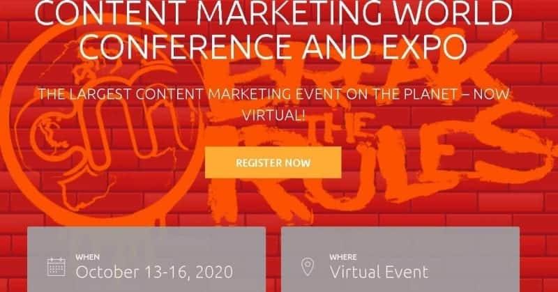 Social Media Conferences - Content Marketing World 2020-