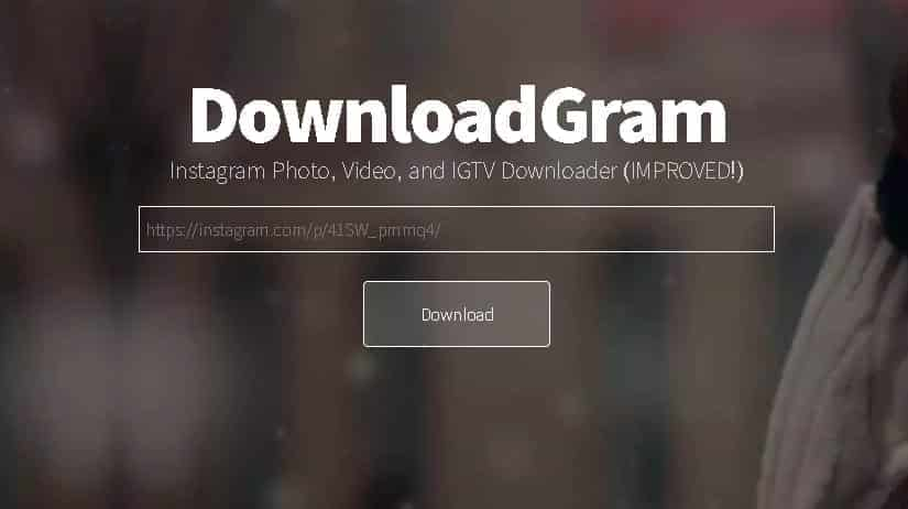 How to use Instagram to download images with DownloadGram