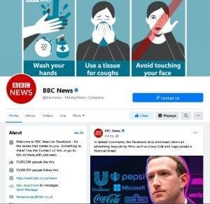 Pages on the social media platform