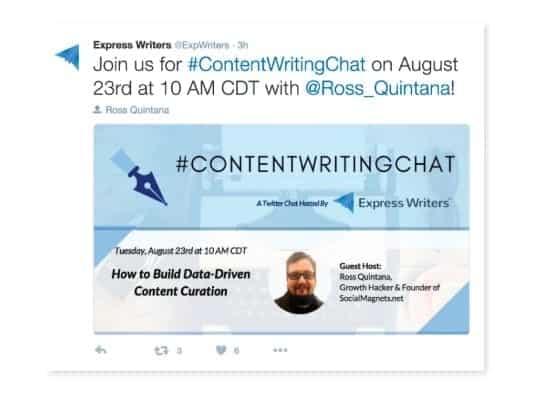 Social media post ideas - Twitter chats