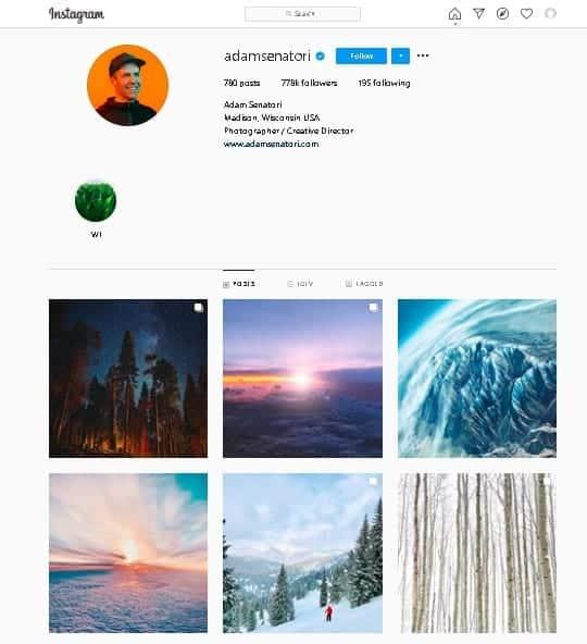 Adam Senatori Instagram