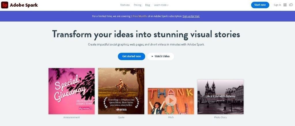 Free image creation tools - Adobe Spark