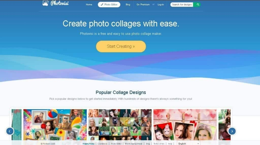 Free image creation tool - Photovisi