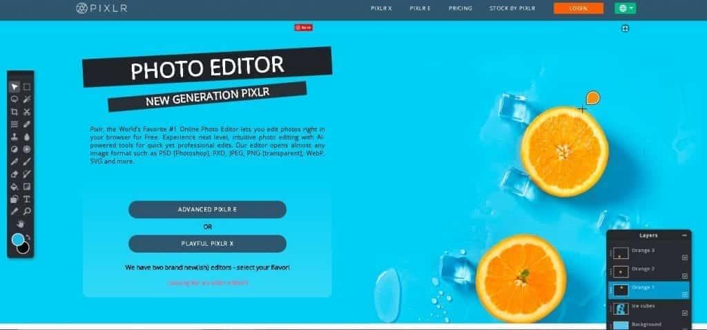 Free image creation tools - Pixlr