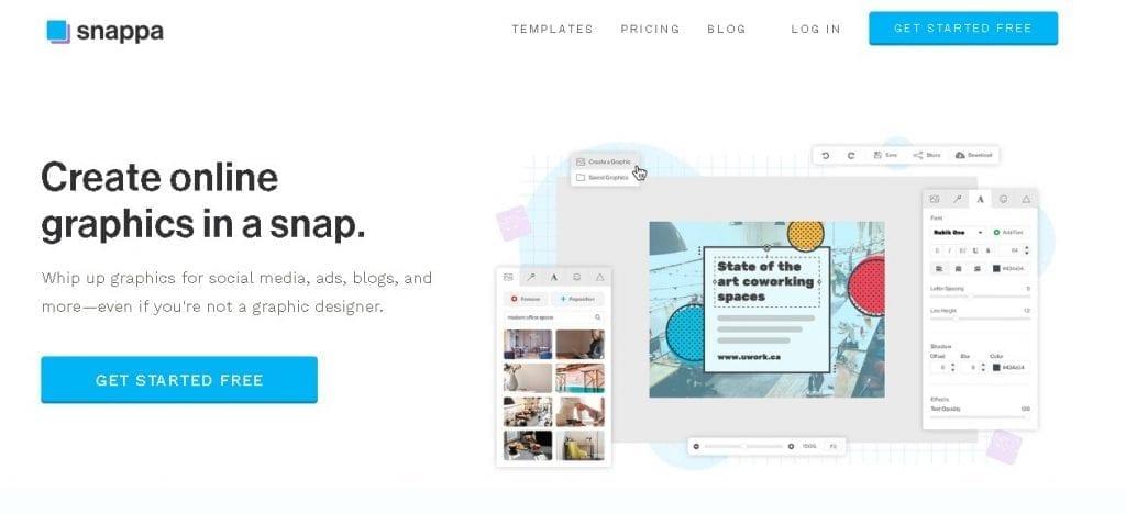 Free image creation tools - Snappa