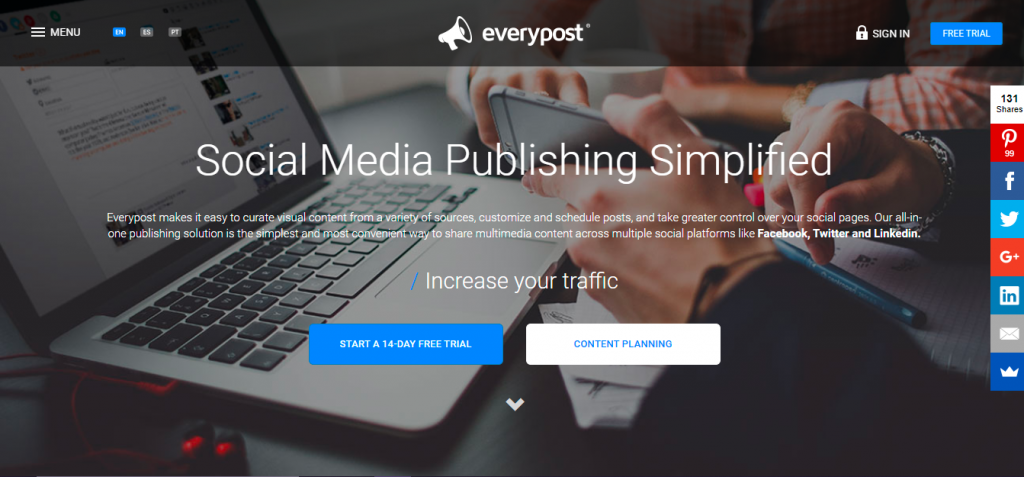 Social media marketing tools - EveryPost