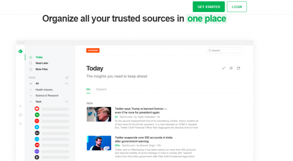 Feedly is one of the more popular digital marketing tools.