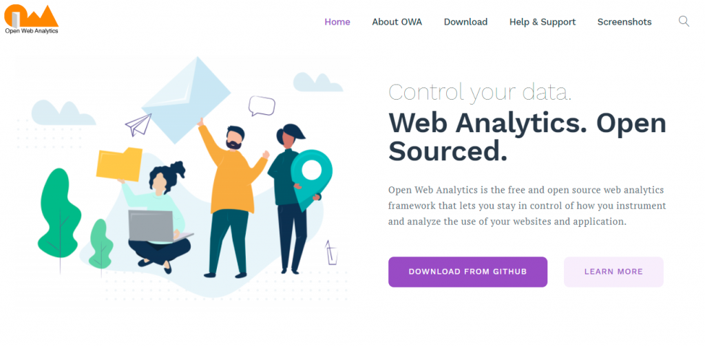 Open Web Analytics: One of the many brilliant digital marketing tools that are free.