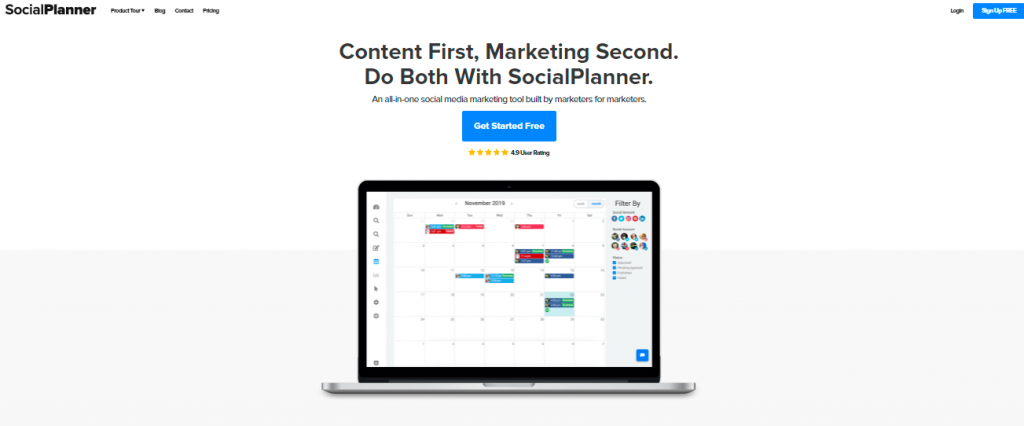 SocialPlanner - one of the best social media marketing tools of 2021