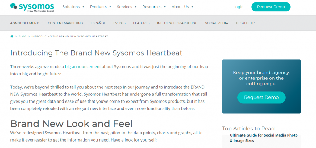 Sysomos Heartbeat, one of the best digital marketing tools.