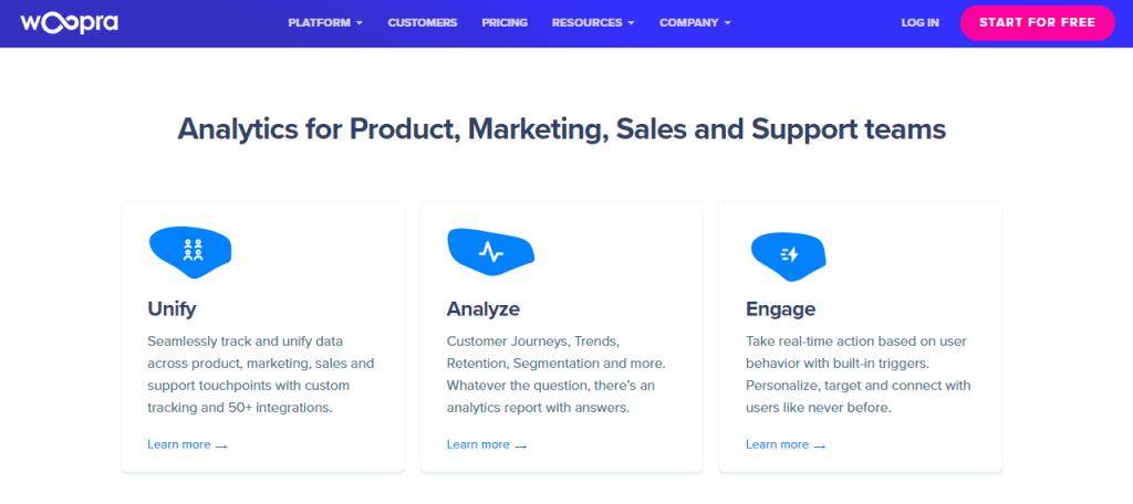 Woopra makes website analytics look easy